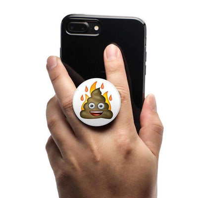 COOLGRIPS MAGNETIC PHONE GRIP AND STAND EMOJI FIRE POO