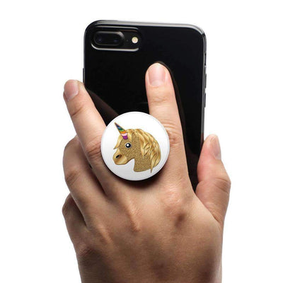 COOLGRIPS MAGNETIC PHONE GRIP MOUNT AND STAND EMOJI™ GOLD UNICORN