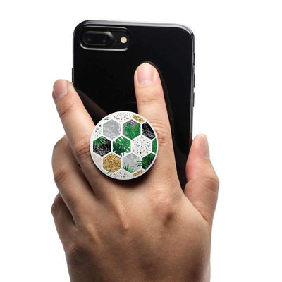 COOLGRIPS ALL IN ONE PHONE GRIP MOUNT AND STAND PALM MARBLE