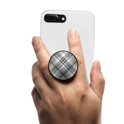 COOLGRIPS MAGNETIC PHONE GRIP MOUNT AND STAND BLACK PLAID