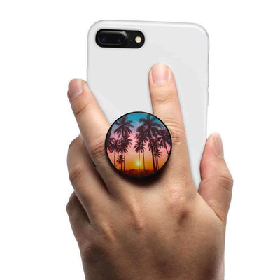 COOLGRIPS MAGNETIC COLLAPSIBLE PHONE GRIP AND STAND PALM TREE SUNSET