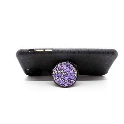 COOLGRIPS PURPLE STONE PHONE GRIP AND STAND