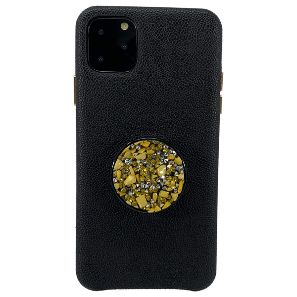 COOLGRIPS YELLOW STONE PHONE GRIP AND STAND