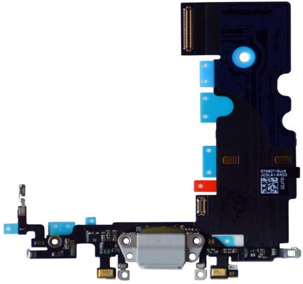 iPhone 8 Charging Port Flex Cable (White) (4168074231872)