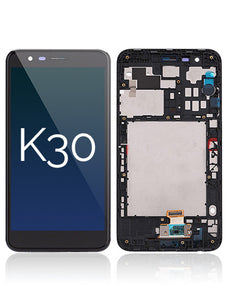 LG K30 / K8 (2017) LCD Display Touch Screen Glass Lens Digitizer Housing Assembly (Black) (4317663887395)