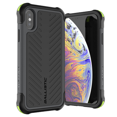 BALLISTIC TOUGH JACKET SERIES CASE FOR APPLE IPHONE X / XS - BLACK