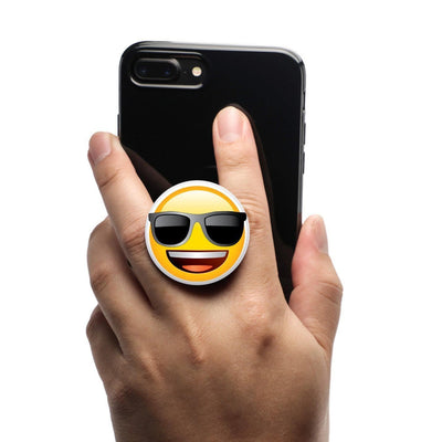 COOLGRIPS MAGNETIC PHONE GRIP AND STAND EMOJI COOL SMILEY