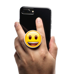 COOLGRIPS MAGNETIC PHONE GRIP AND STAND EMOJI GRINNING FACE