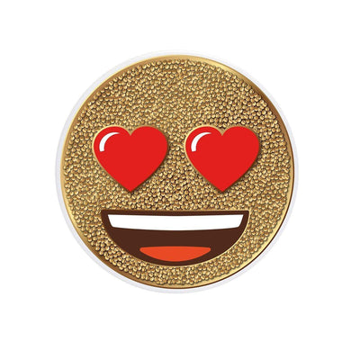 COOLGRIPS MAGNETIC PHONE GRIP AND STAND EMOJI HEART EYES GOLD