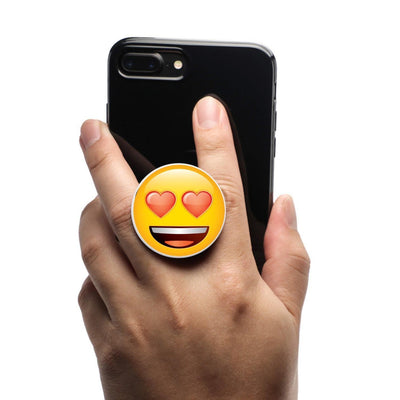 COOLGRIPS MAGNETIC PHONE GRIP AND STAND EMOJI HEART EYES