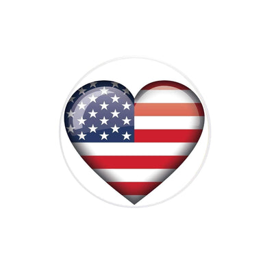 COOLGRIPS MAGNETIC PHONE GRIP AND STAND EMOJI USA HEART FLAG