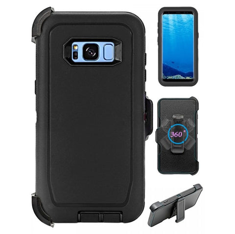 Heavy Duty Shock Reduction Case with Belt Clip (No Screen) for Galaxy S8 Plus