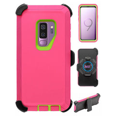 Heavy Duty Shock Reduction Case with Belt Clip (No Screen) for Galaxy S9 Plus