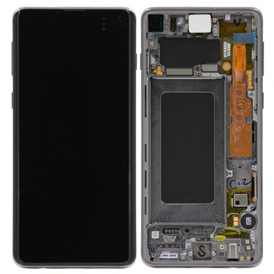 Samsung Galaxy S10 LCD Digitizer Assembly with Frame (Black) (4286239735872)
