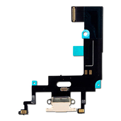 iPhone XR Charging Port Flex Cable (White) (4169021128768)