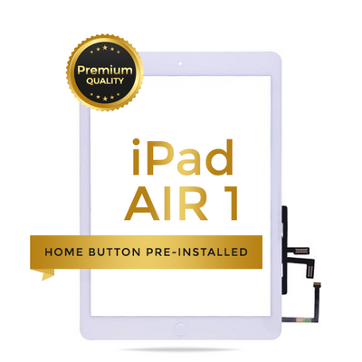 iPad Air  Premium Touch Screen Glass Digitizer With Home Button