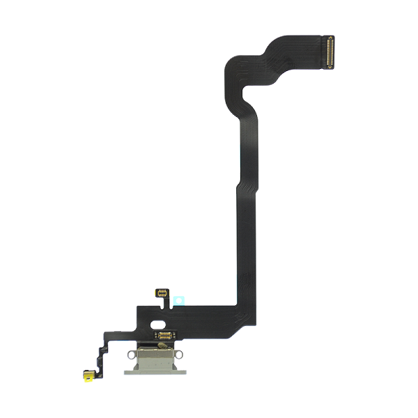 iPhone X Charging Port Flex Cable (White) (4168381694016)