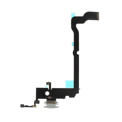 iPhone XS Max Charging Port Flex Cable (White) (4169044426816)