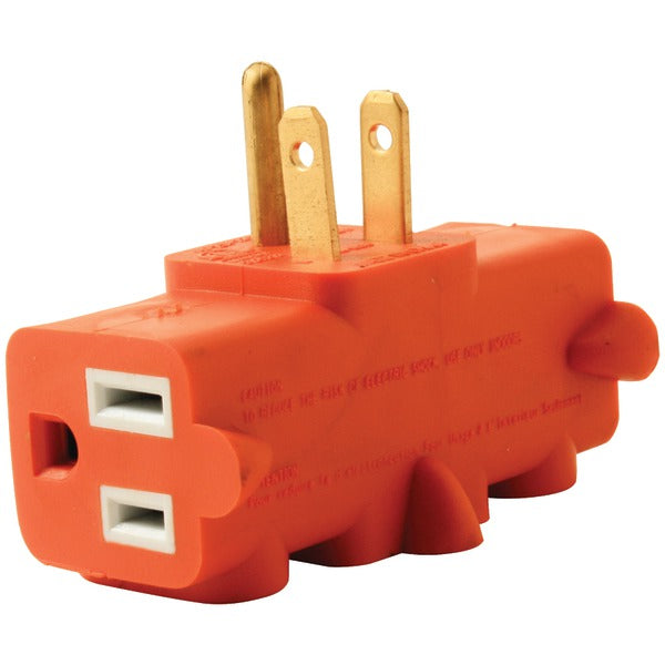 Axis YLCT-10 3-Outlet Heavy-Duty Grounded Adapter