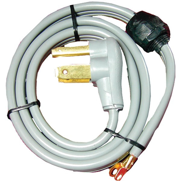 Certified Appliance Accessories 90-1020QC 3-Wire Quick-Connect Closed-Eyelet 30-Amp Dryer Cord, 4ft