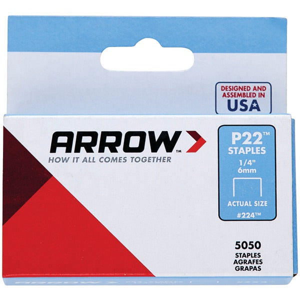 "Arrow 224 Plier Staples, 5,050 pk (1-4"")"