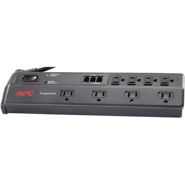 APC P8T3 8-Outlet Essential SurgeArrest Surge Protector (Telephone Protection)
