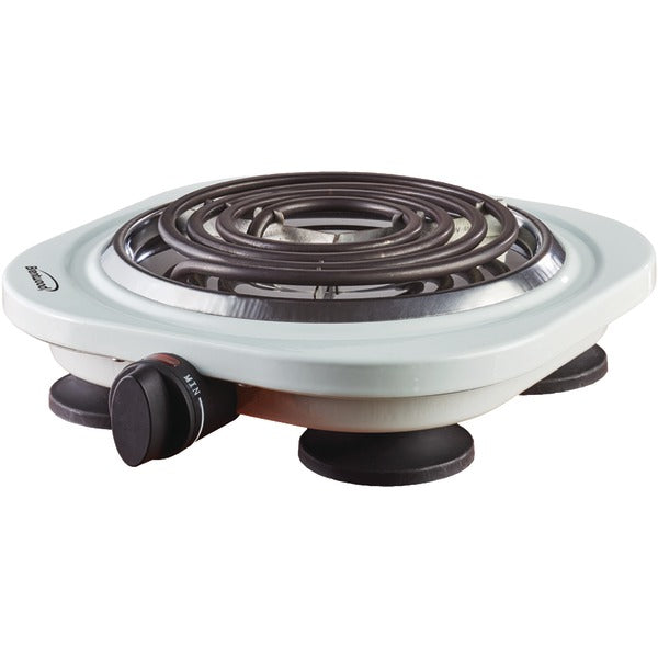 Brentwood Appliances TS-321W 1,000-Watt Single Electric Burner (White)