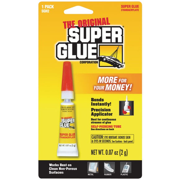 The Original SuperGlue SGH2-12 Super Glue Tube (Single Pack)