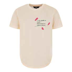 CREAM AND PINK TSHIRT