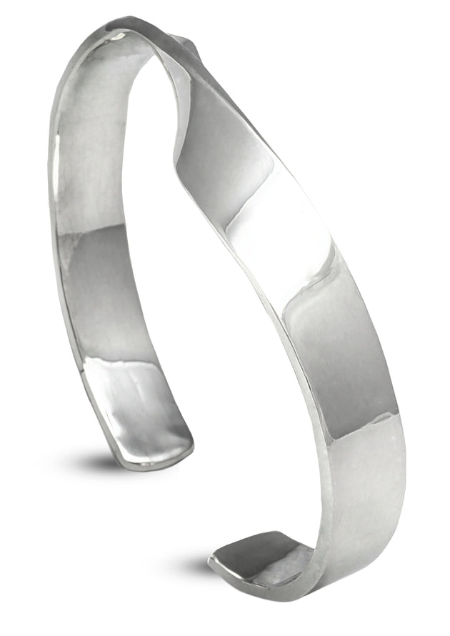 Classic with a Twist Silver Cuff Bracelet