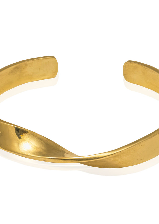 Classic with a Twist Gold Cuff Bracelet