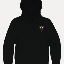 MIND EMBROIDERED HOODIE BLACK