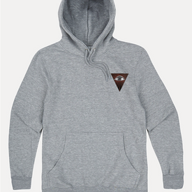 MIND EMBROIDERED HOODIE GREY