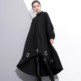 Mitsukazu Grommet Long Sleeve Dress