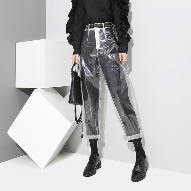 Marigold Shadows pants Antler Transparent Crop Pants