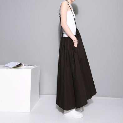 Marigold Shadows skirts Baghy Tie Skirt Dress - Black