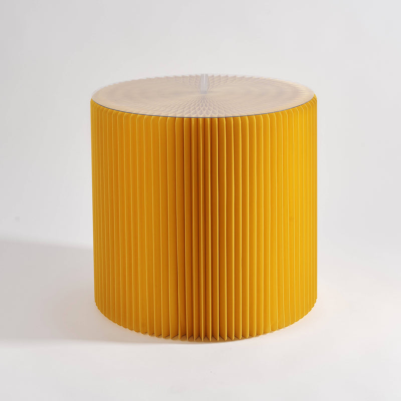 Concertina Paper Stool - Yellow - Paper Lounge