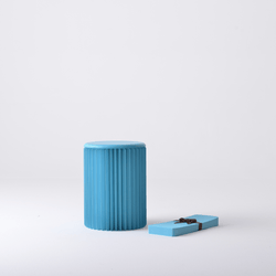 Foldable Circular Paper Table - Blue - Paper Lounge