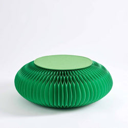 Paper Foot Stool - Green - Paper Lounge
