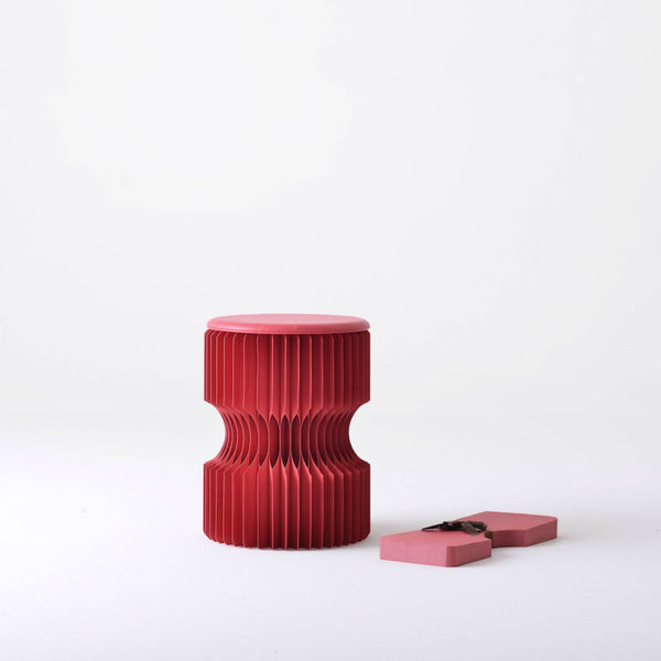 Diablo Paper Stool - Red - Paper Lounge