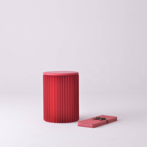 Concertina Paper Stool - Red - Paper Lounge