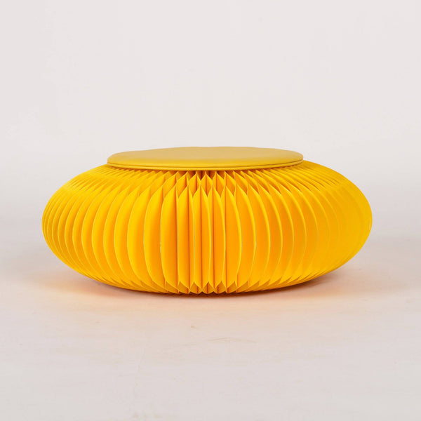 Paper Foot Stool - Yellow - Paper Lounge