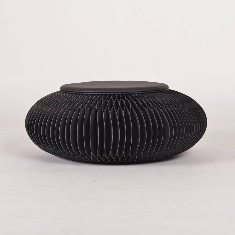 Paper Foot Stool - Black - Paper Lounge