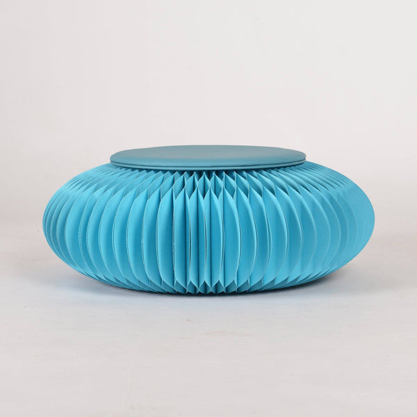 Paper Foot Stool - Blue - Paper Lounge
