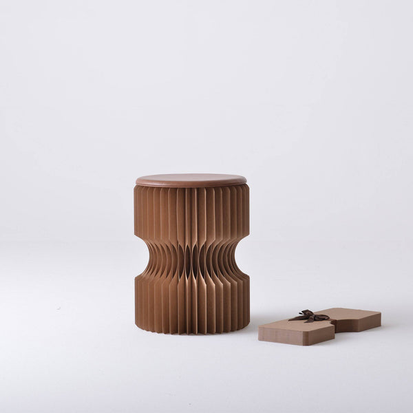 Diablo Paper Stool - Brown - Paper Lounge