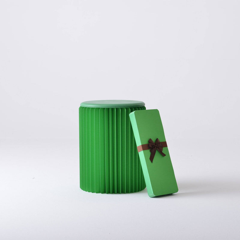Concertina Paper Stool - Green - Paper Lounge