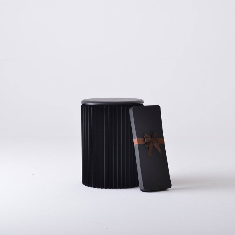 Concertina Paper Stool - Black - Paper Lounge