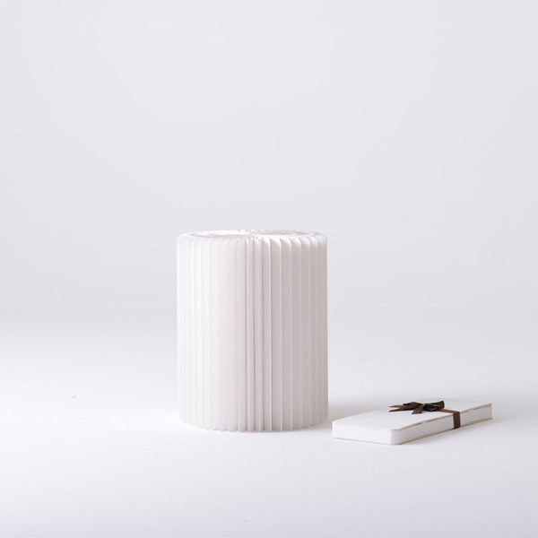 Concertina Paper Stool - White - Paper Lounge