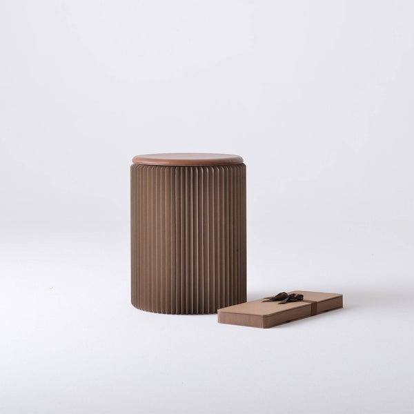 Concertina Paper Stool - Brown - Paper Lounge