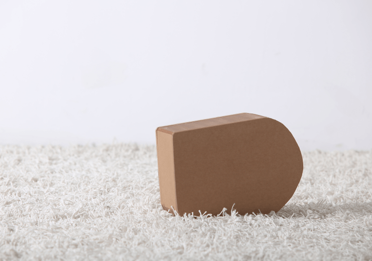 Paper Foot Stool - Brown - Paper Lounge